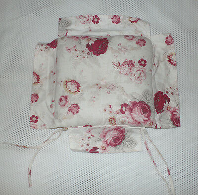 Waverly Norfolk Rose Garden Room Chair Pad Cushion Shabby Chic Roses