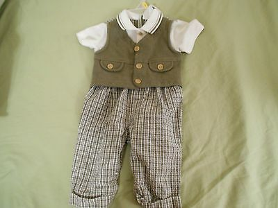 boys size 6-9 mo. one piece  dress outfitby Baby Togs