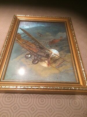 Biplane Picture In Frame