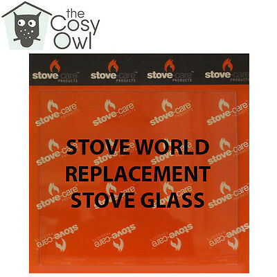 Stove World Replacement Stove Glass - Heat Resistant Glass For Stove World Stove