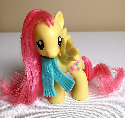 FLUTTERSHY- Riding Along With Scarf- G4 My Little Pony- Damaged Wing- Brushable
