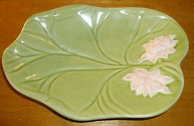 Bordallo Made In Portugal ~ Vintage Green Lily Pad Plate ~ Small