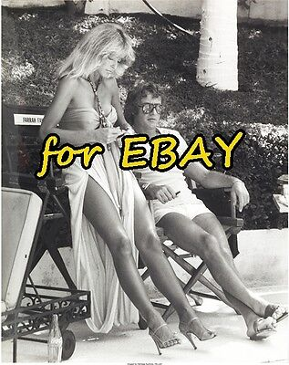 FARRAH FAWCETT RARE BW Outtake 8X10 CHARLIES ANGELS PHOTO SUNBURN 1C