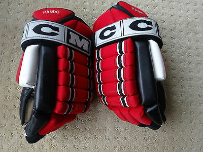 Jay Pandolo Game Used Worn New Jersey Devils CCM Hockey Gloves