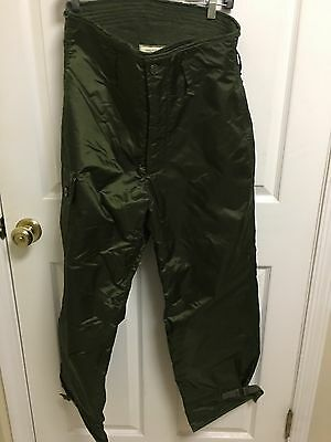 VINTAGE US ARMY NAVY Extreme Cold Weather Pants Trousers Impermeable Pants Small