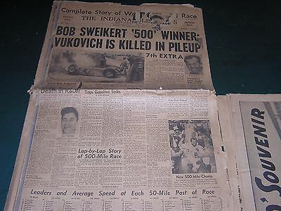 VINTAGE THE INDIANAPOLIS NEWS 500Vukovich Is Killed In Pileup  MAY 30 1955