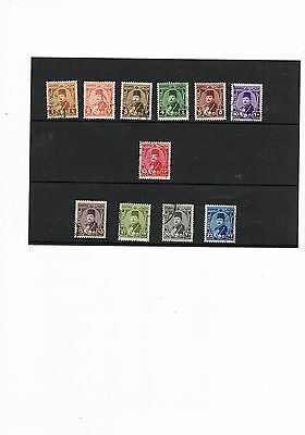 Egypt Stamps King Farouk Definitives Used #ad2