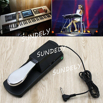 Perfect Universal Piano-style Sustain Foot Pedal with Polarity Switch Design New