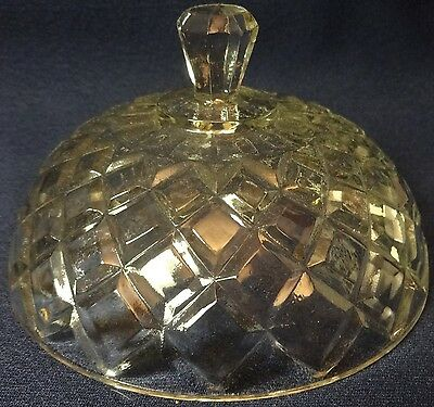 Waterford Crystal Butter Lid only Hocking Glass Company