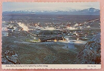 Lg Arco Idaho First City in U.S. Lighted by Nuclear Energy Atomic Power Postcard