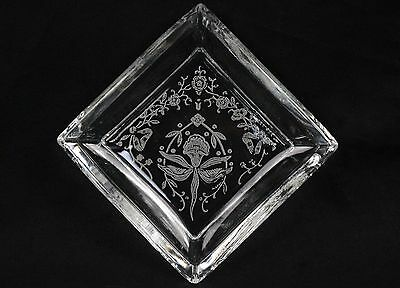 Heisey Orchid Etch Butter Pat or Ashtray