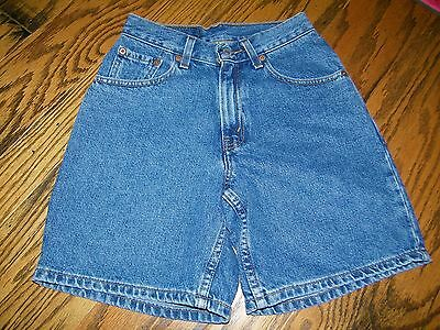 Women's Levi's Red Tab Relaxed Fit Blue JEan Shorts Size 1 Juniors NWT