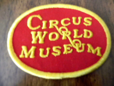 Circus World Museum patch red & gold embroidered edge