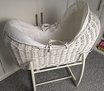 Welcome To The World Mamas And Papas Wicker Moses Basket