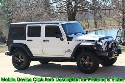 2012 Jeep Wrangler Unlimited Rubicon Sport Utility 4-Door Jeep Wrangler Unlimited Rubicon AEV 4X4 Nav Winch Lifted Shipping Financing V6