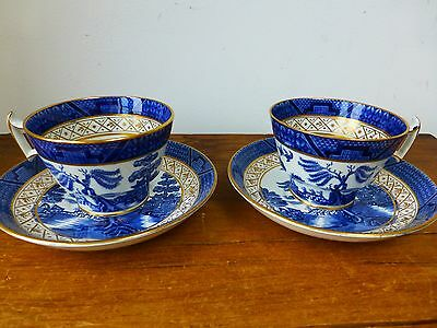 Booths Real Old Willow - 2 x large cups and saucer