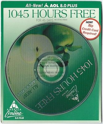 2003 Aol 8.0 Plus Disc Collectible Apple 1045 Cd Sealed