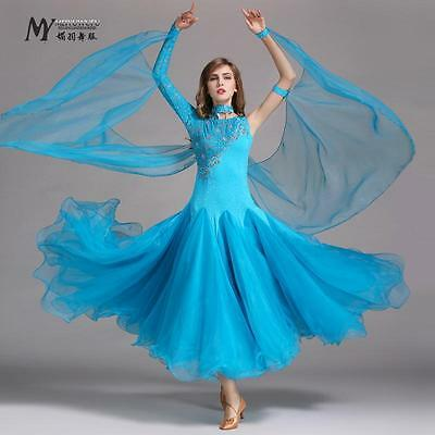 NEW Ballroom Competition Dance Dress Modern Waltz Tango Standard Dress #HB183