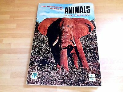 Collectable Fks Wonderful World Of Animals Picture Stamp Album 1970 Complete