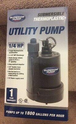 "Superior Pump 91250 - 30 GPM (1-1/4"") Submersible Utility Pump"