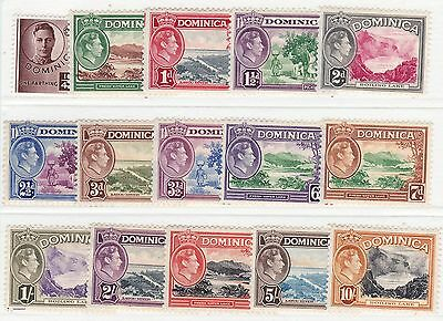 Dominica-1938 Definitive set. Very fresh MM.