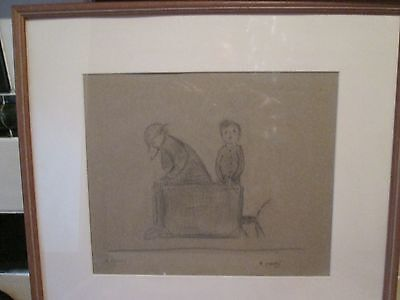 pencil drawing,Lowry/Northern art interest.