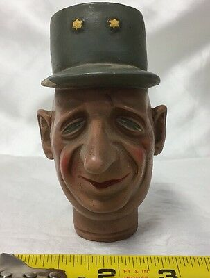 Vintage WWII General President Charles De Gaulle French France Head Bust