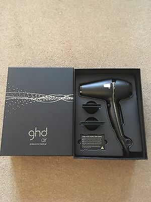 ghd Air Hair Dryer Black With Diffuser Nozzles And Gift Box