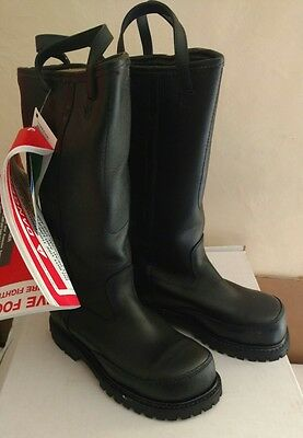 Pro Warrington Boots 9020 Bunker Gear Leather Size 5 E New Turnout Gear Nos