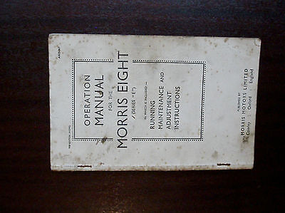 "Morris Eight Series ""E"" Handbook."