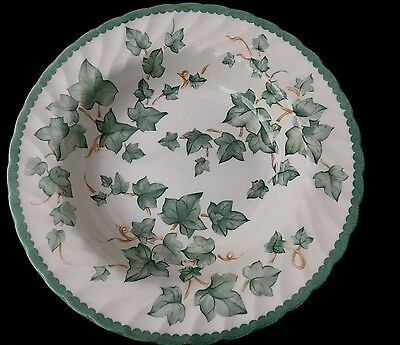 "BHS Country Vine Rimmed Soup Bowls 9"" - Excellent Condition"