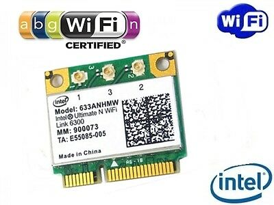NUOVO Intel Ultimate N Wifi Link 6300 450Mbit/s Dual Band 633ANHMW Mini PCIe