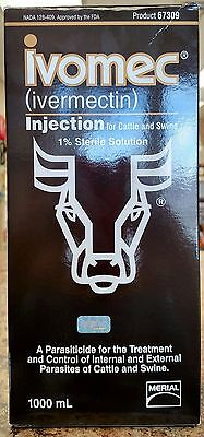 Ivomec 1%  Injectable for Cattle and Swine 1000 ml