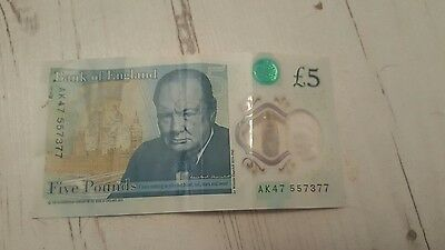New £5 note ak47 serial number