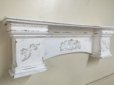 French Country Mantle Shelf,Primitive Mantel,Large Mantle shelf Fancy Mantle,42""