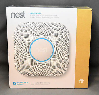 NEW Nest - Protect 2nd Gen. (Wired) Smart Smoke/Carbon Monoxide Alarm - White