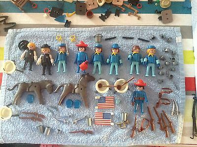 Playmobil++Vintage++Lot Cavaliers Cow Boy