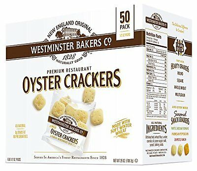 Westminster Bakers Company Premium Restaurant Oyster Crackers 25 Ounce 50 1/2