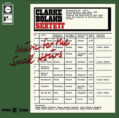 Clarke Sextet Boland - Music for the Small Hours
