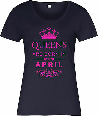 Queens Are Born In April Ladies T-Shirt,Birthday Gift Mothers Day