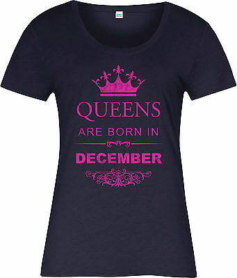 Queens Are Born In December Ladies T-Shirt,Birthday Gift Mothers Day