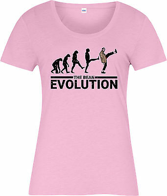 Mr Bean Ladies T-Shirt,The Bean Evolution Spoof Inspired Design Top