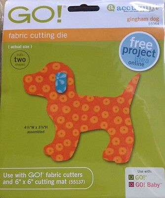 """Accuquilt Go Die """"Gingham Dog"""" for GO and GO BABY"""