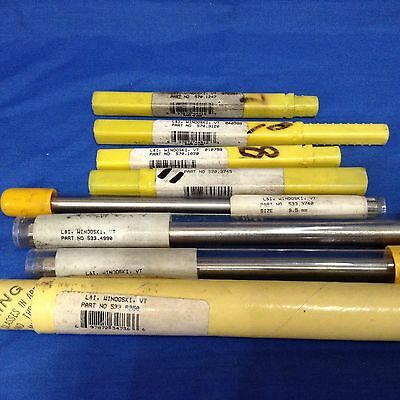 LOT of 8 Lavellee & IDE L&I USA Straight Flute Reamers HSS .1247 .625