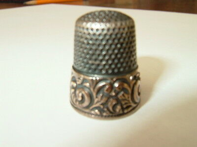 Antique 1800's Ketcham&McDougall sterling 14k gold thimble
