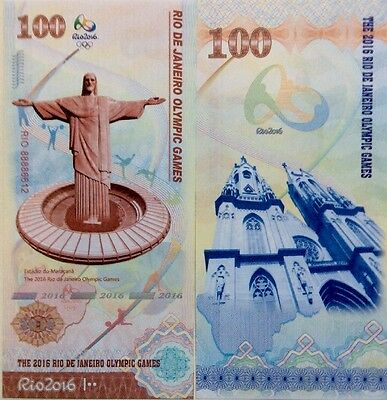 Brazil Souvenir Banknote 2016 Rio Olympic Games Uncirculated Banknote
