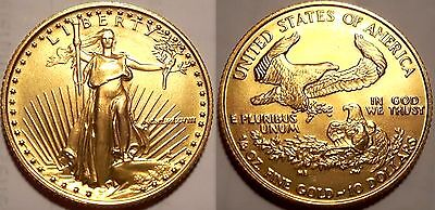 American Eagle 1988 KEY DATE 1/4 oz Gold Coin 10 Dollar $ MCMLXXXVIII USA