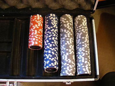Lot Of 171 Double Sided Holographic Clay Poker Chips