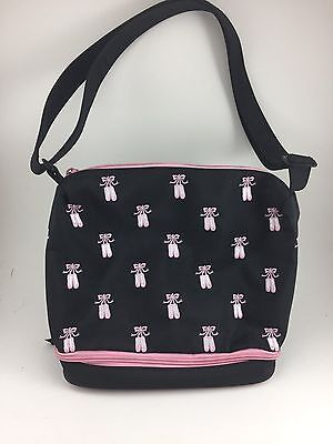 Horizon Girls Dance Bag With Ballerina Shoes Embroidered & Zip Bottom For Shoes