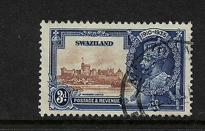Swaziland 1935 3d GV Silver Jubilee S.G 23 cat £8.50 Good/Fine Used